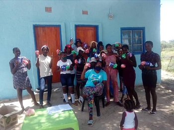 Committed member donates sanitary pads to community care based organisation