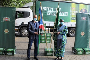 Breweries provides 340 cases of Windhoek Lager to Namibian diplomatic missions ahead of Independence celebrations