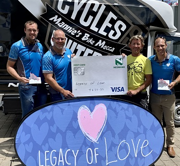 Legacy of Love gets benefaction from Mannie's Bike Mecca for Everest Virtual Challenge
