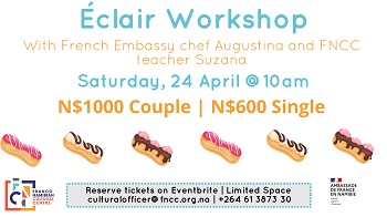 Public invited to participate in a mouth watering chocolate éclair workshop at the FNCC