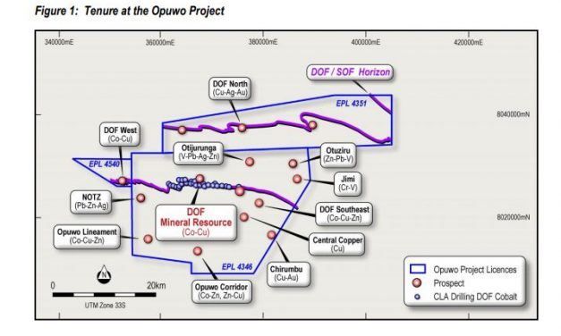 Core licence of the Opuwo Cobalt Project renewed until March 2023