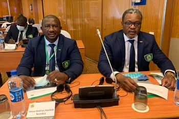 Local trainers Hoebeb and Namalemo attend CAF Safety and Security trainers workshop