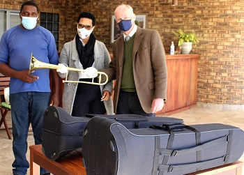 Donated instruments to local QueenZab Brass Band to help youth stay off the streets