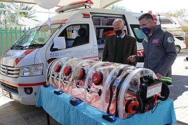 Local medical assistance organisation receives ambulance and medical equipment from German Embassy