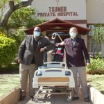 Tsumeb Private Hospital receives beds and oxygen supply points from private sector