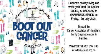 Boot out Cancer, wear your funky shoelaces, socks and ribbons