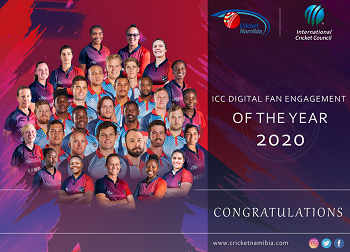 Cricket Namibia bags two accolades at the 2020 edition of the ICC Development Awards