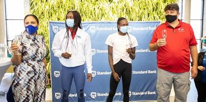 Blue bank pledges N$300,000 to support the educational needs of Olympian athletes Mboma, Masilingi