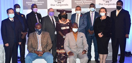 Eleven Rössing Uranium employees honoured for their long service