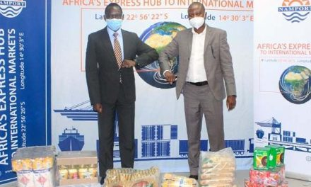 Namport earmarks staple food parcels for 100 families in Erongo