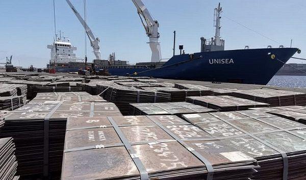 Unisea receives second breakbulk copper shipment at Walvis Bay harbour