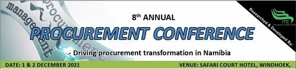 Intelligence Transfer Centre to host 8th Annual Procurement Conference on 1 and 2 December 2021 at Safari Court Hotel in Windhoek